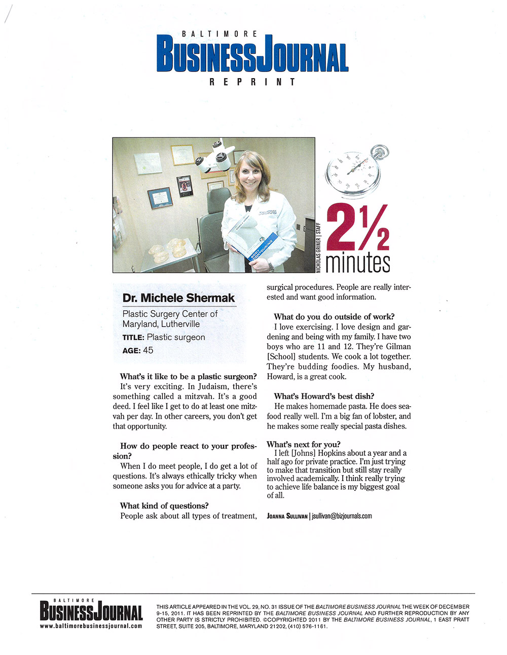 Dr  Michele Shermak In The News